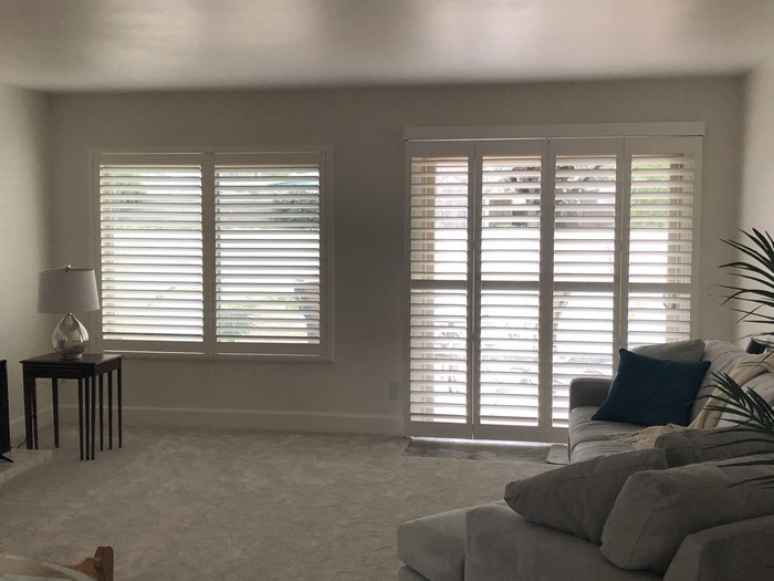 Norman Shutters 3 1/2-inch Louvers on Angela St in Simi Valley CA